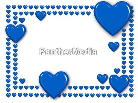 bluer heart frame