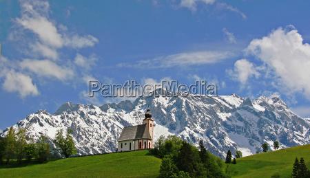 chapel on mountain