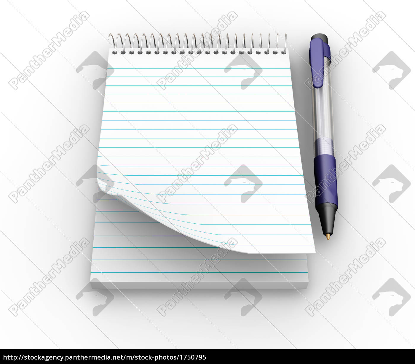 notepad, with, pen - 1750795