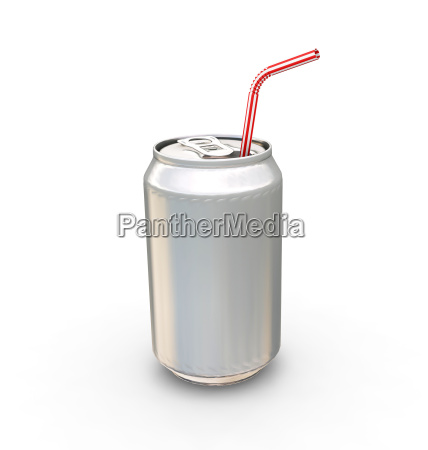 drinks can and straw