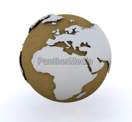 3d, globe - 1752321