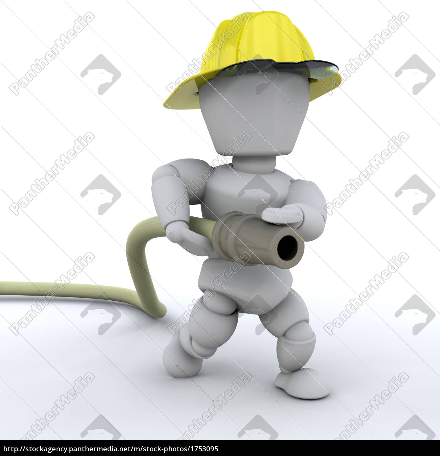 object, hat, person, hose, fireman, hero - 1753095