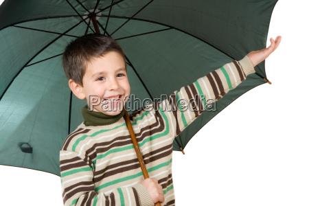 adorable, boy, with, open, umbrellas, - 1757947