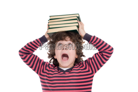 adorable, child, with, many, books, - 1757983