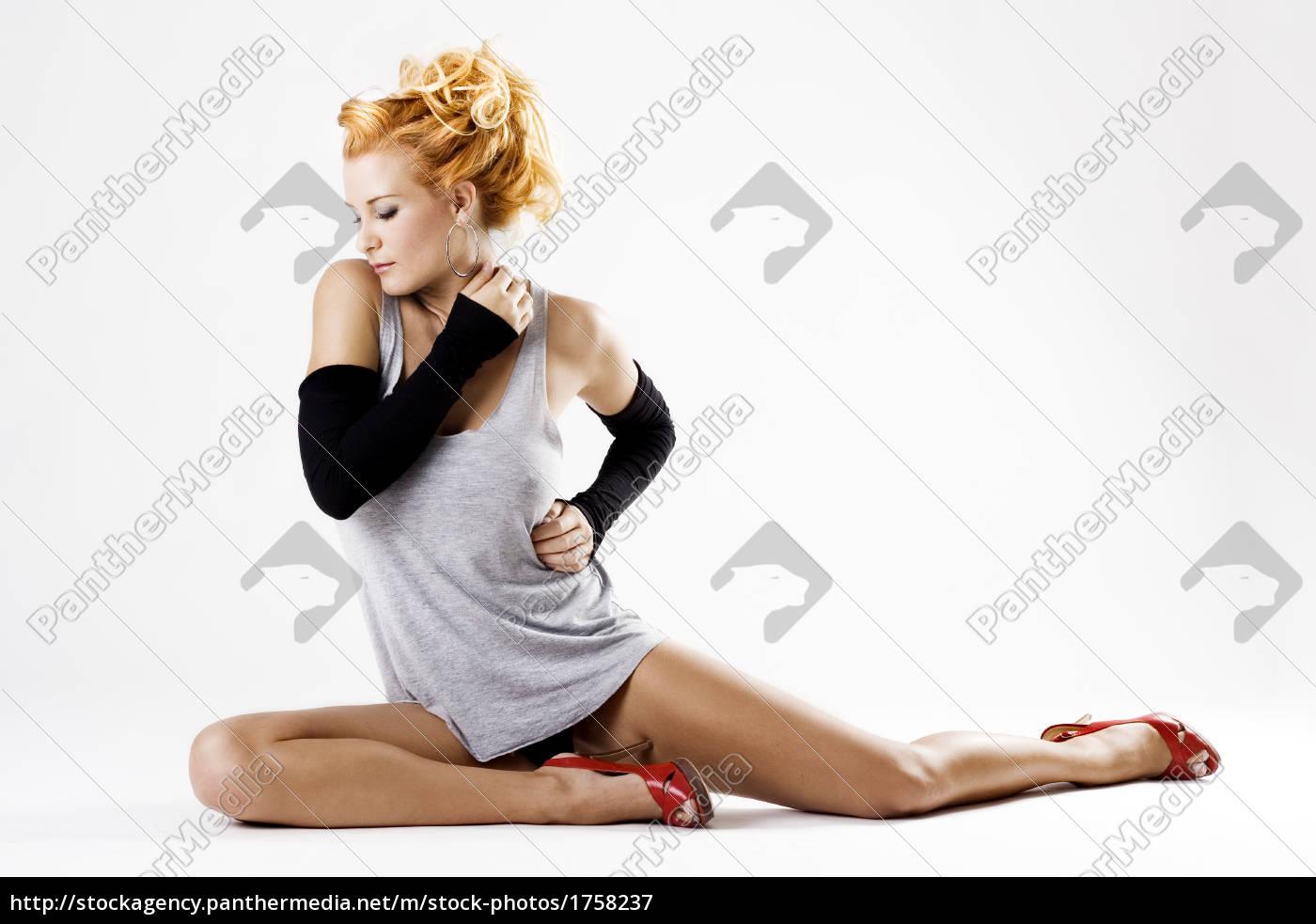 beautiful, female, dancer, on, the, floor - 1758237