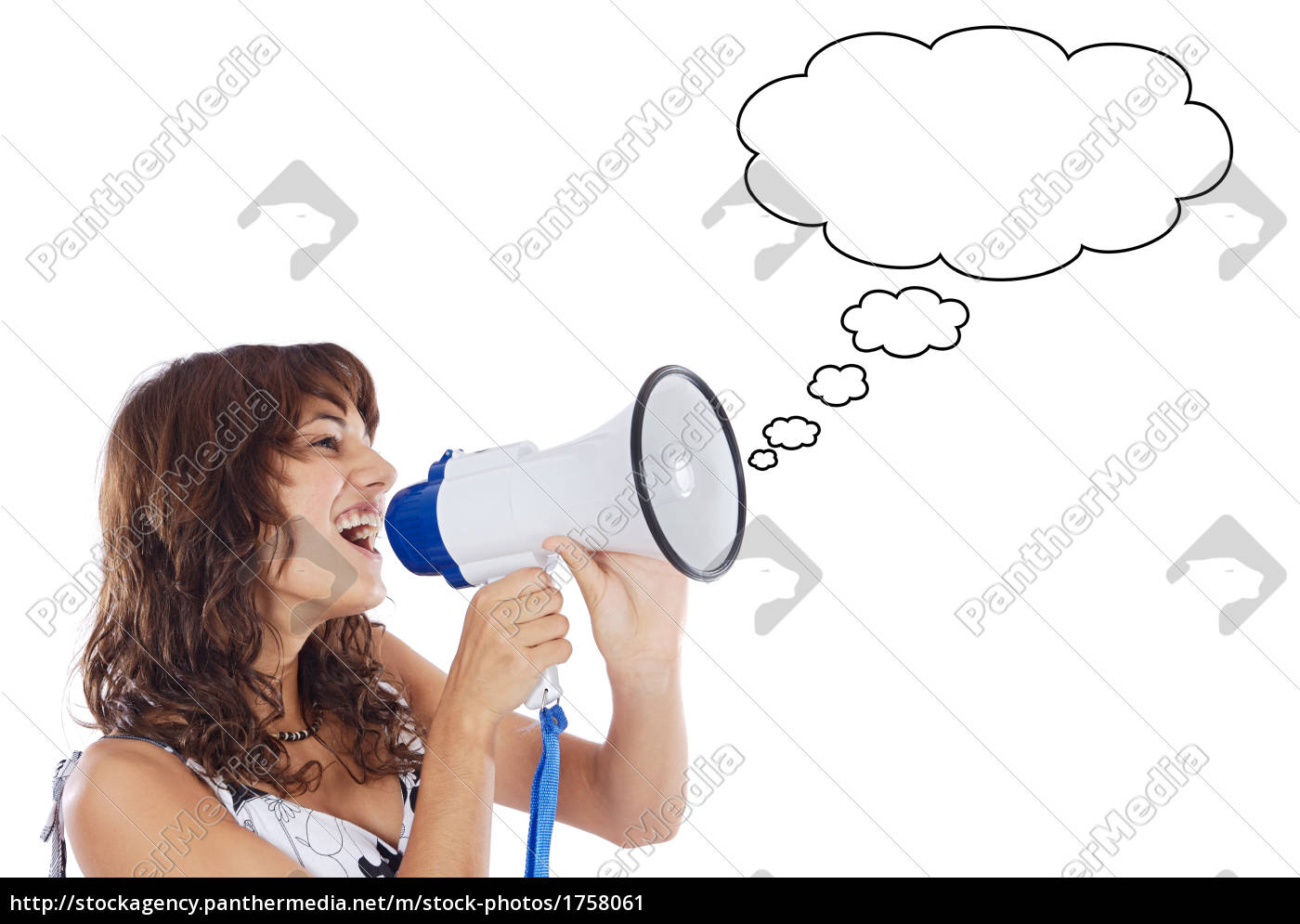 teenager, with, megaphone - 1758061