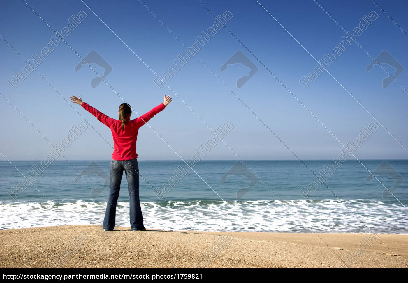young, woman, in, the, beach - 1759821