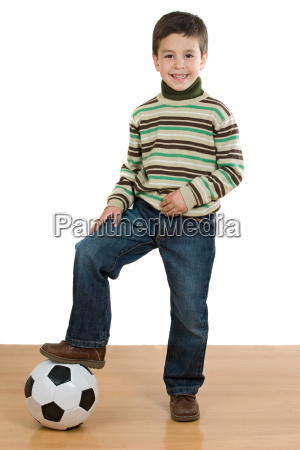 adorable, player, boy, with, soccer, ball - 1760571