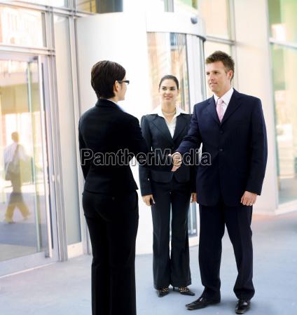businessman, greeting, partner - 1762889