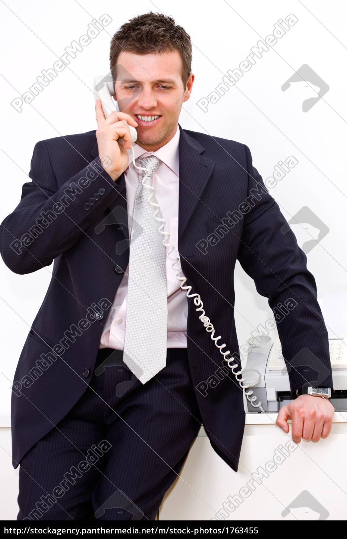 businessman, calling, on, phone - 1763455