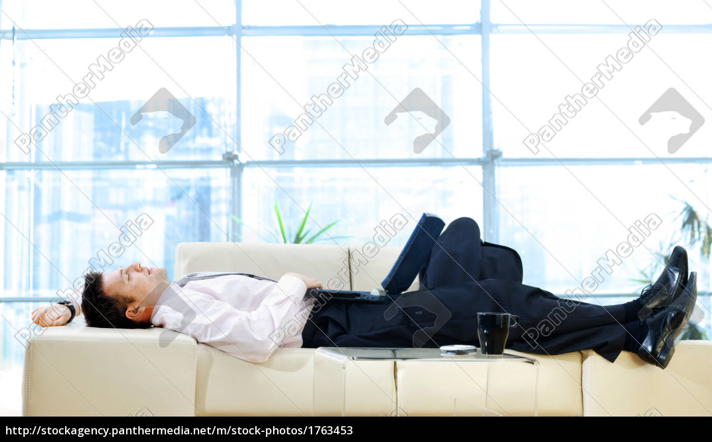 businessman, resting, on, sofa - 1763453