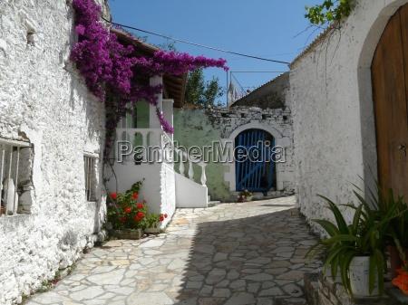mediteranes village on corfu