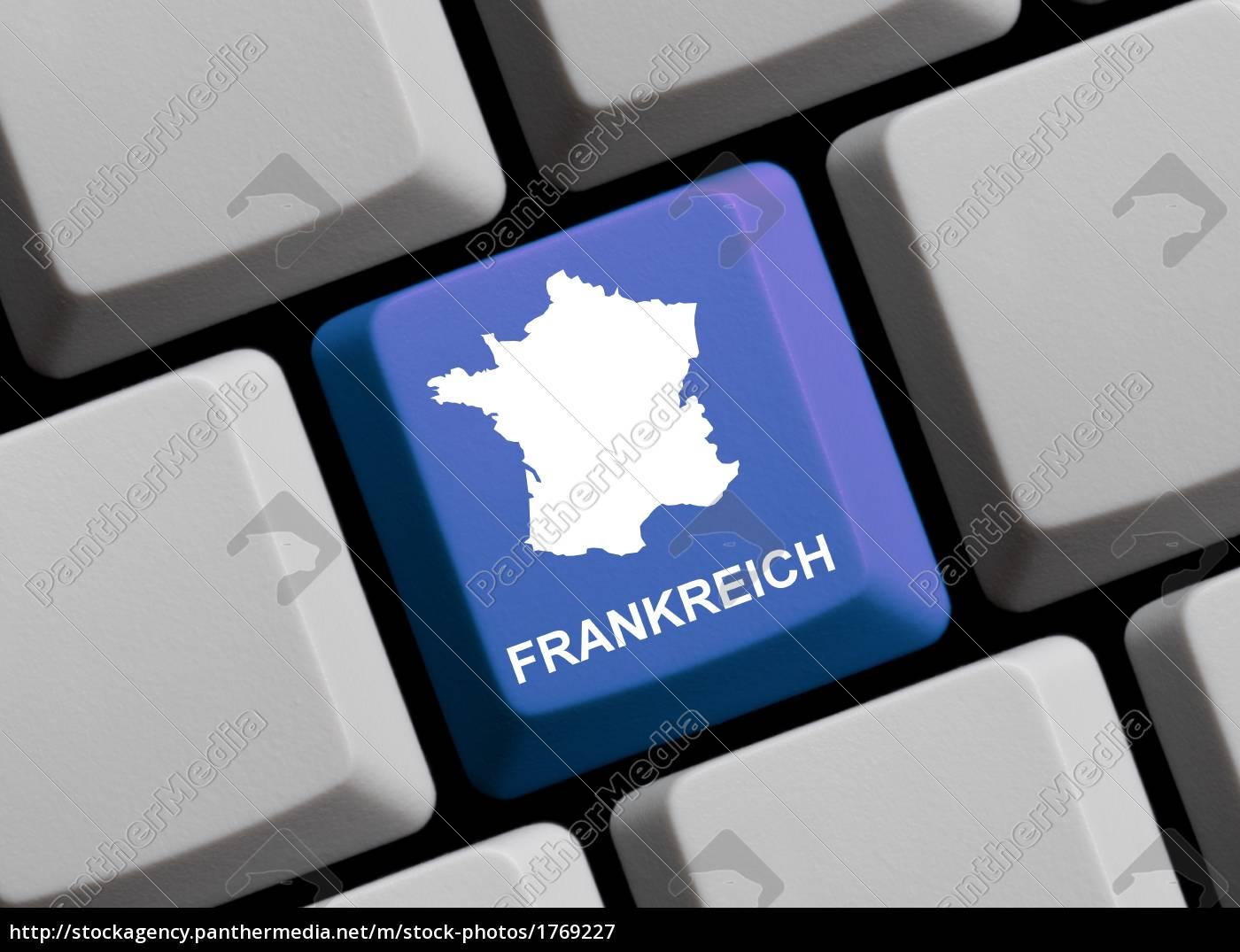 france, -, map, on, keyboard - 1769227