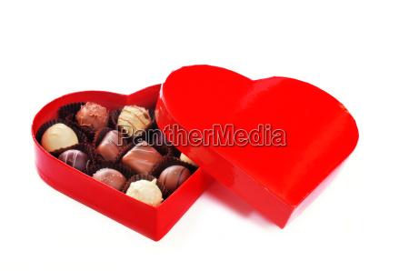chocolates, in, heart-shaped, box - 1770875