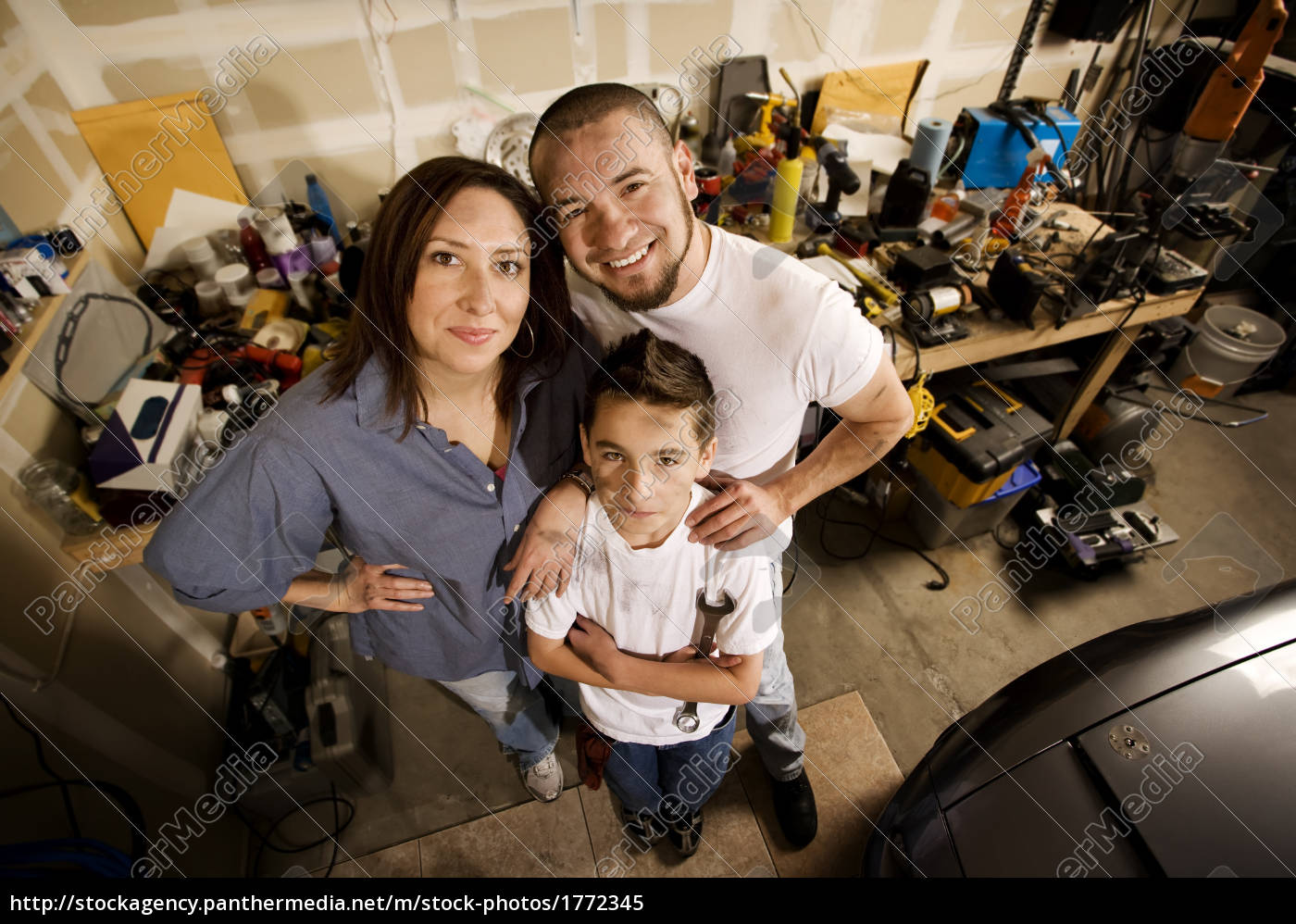 family, in, garage - 1772345