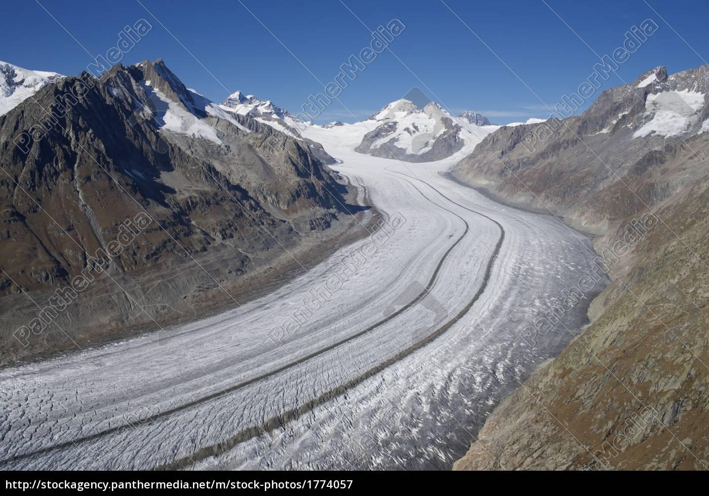 aletsch, glacier, with, eggishorn - 1774057