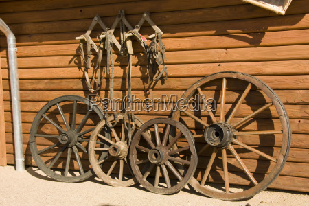 wooden wheels in the wild west