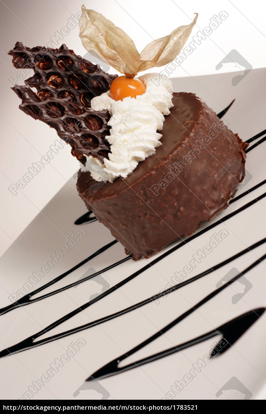 chocolate, dessert, with, cream, - 1783521