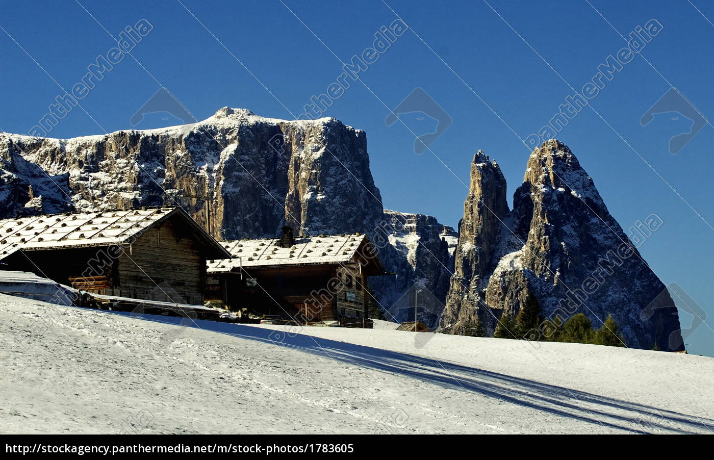 mountain, huts, and, sleds - 1783605