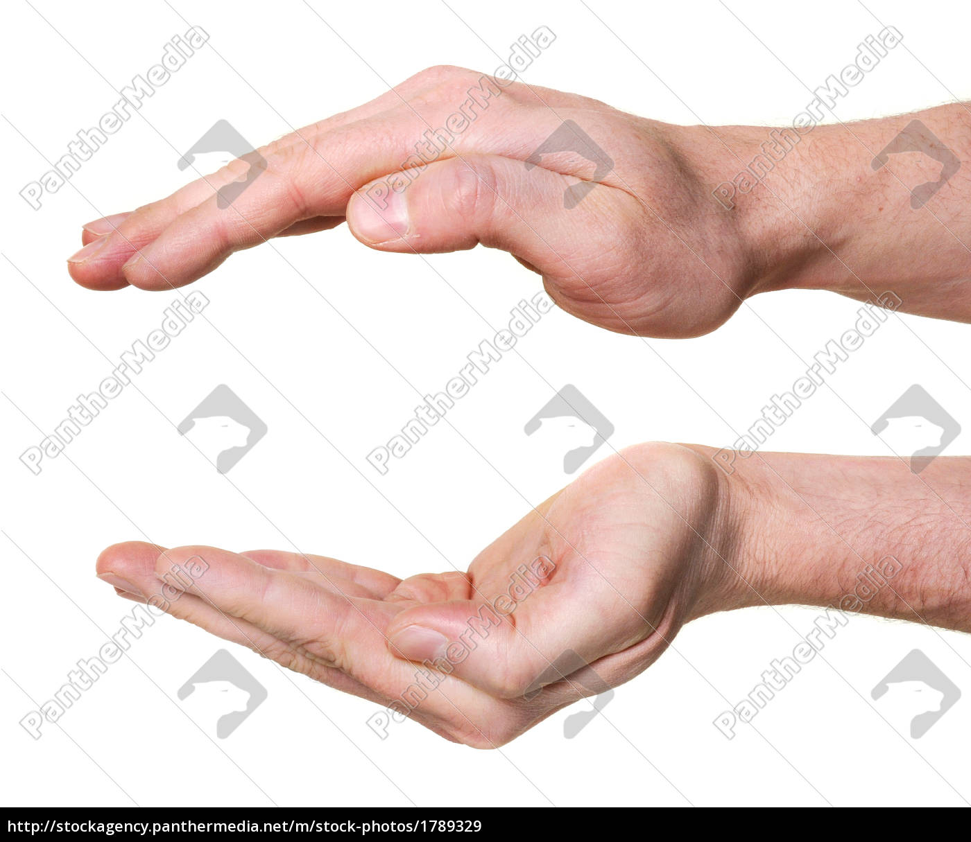 protecting, hands, isolated, on, white, background - 1789329