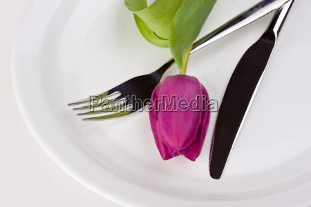 tulpe messer und gabel