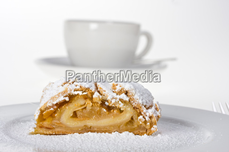 detail of an apple strudel with
