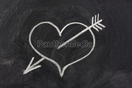 heart pierced by arrow love symbol