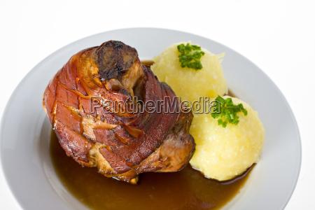 bavara con la carne de cerdo