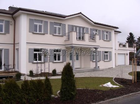 house building villa brick style of