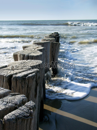 breakwater north sea beach