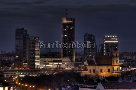 new and old in vilnius