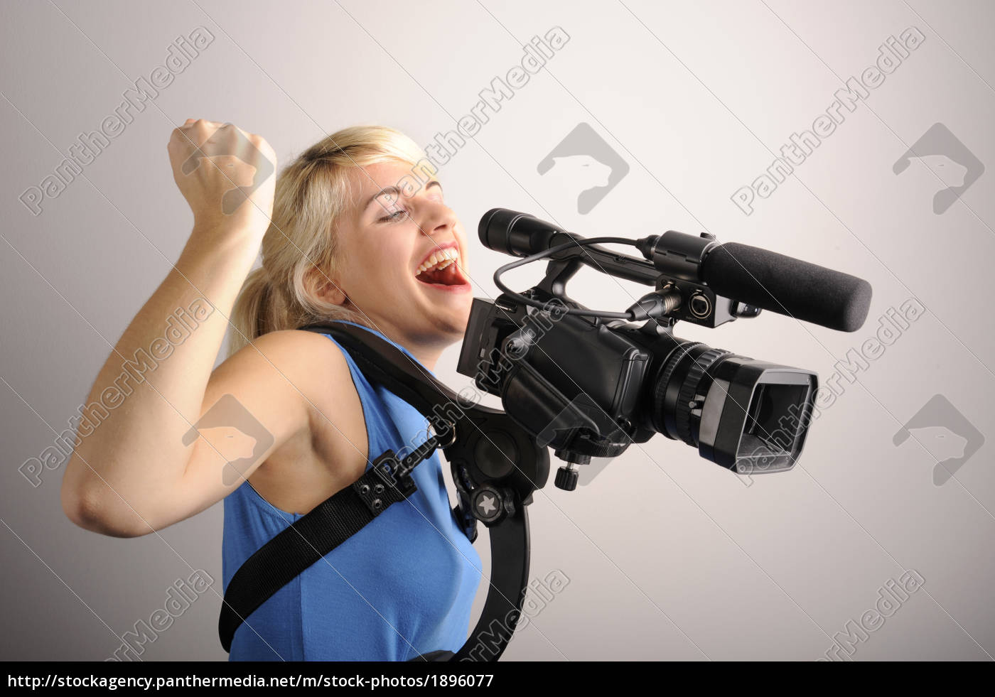 young, woman, video, camera - 1896077