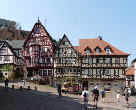 historical city town monument bavaria fountain