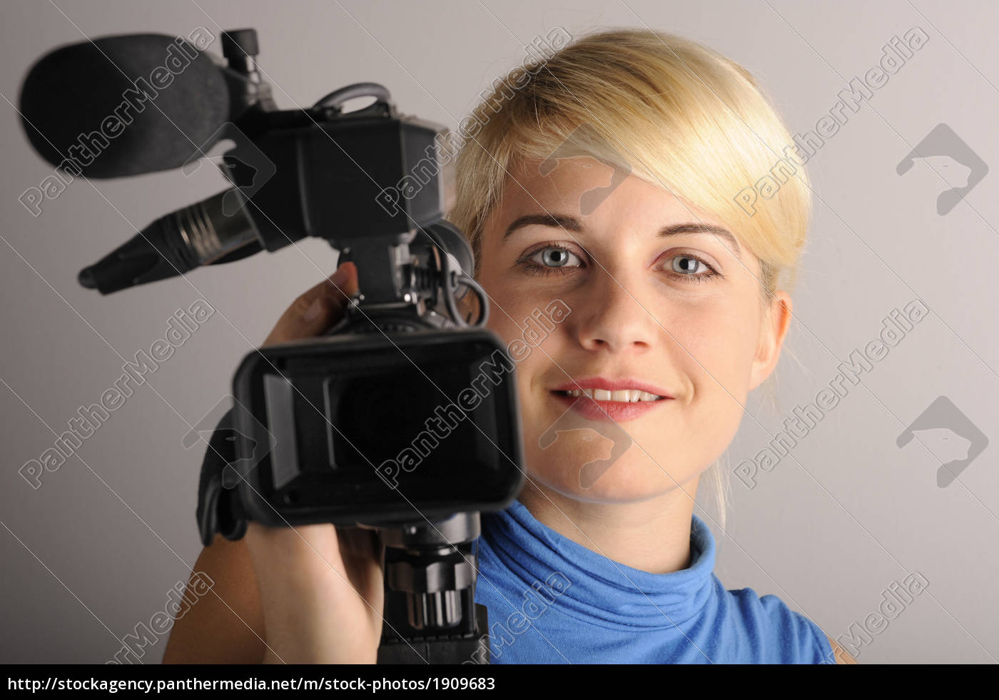 young, woman, video, camera - 1909683