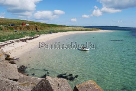 beautiful beach on orkney
