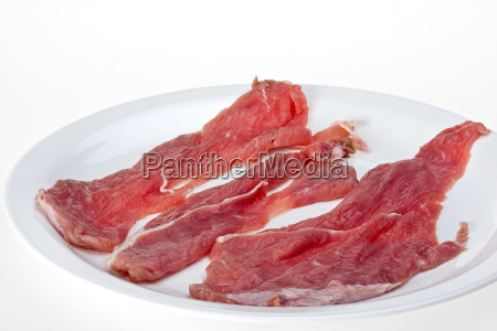 raw veal cutlets on a plate