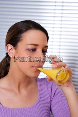 woman drink drinking bibs fruit orange