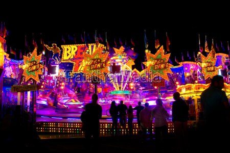 fast carousel and colorful lights
