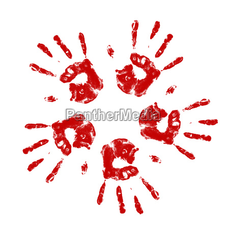 handprints in a circle