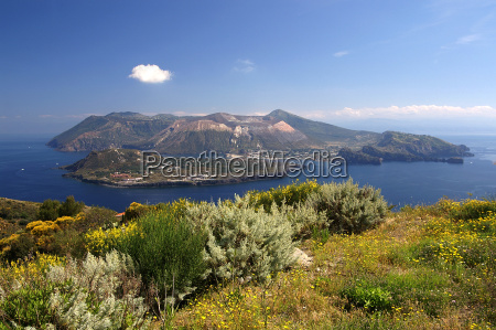 aeolian island of vulcano in sicily