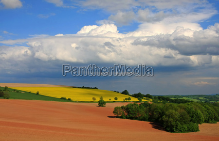 clouds over the fields