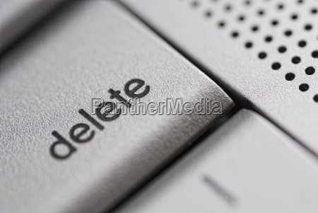 delete key from a silver laptop