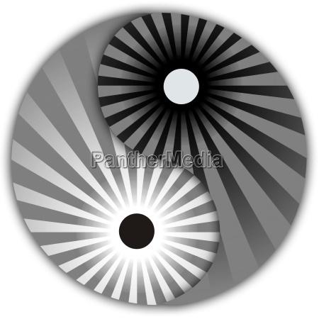 yin yang retro style