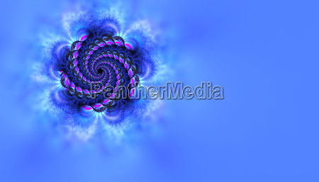 spiral on blue background