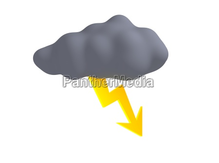 storm cloud with thunderbolt