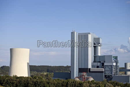 power plant on a sunny day