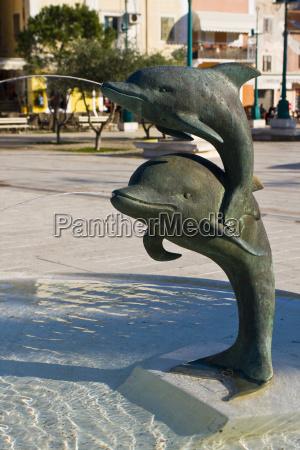 dolphin fountain in mali loinj
