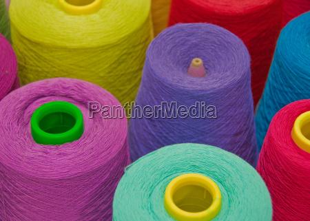 cones of yarn