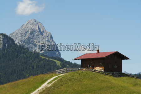 alm in the upper bavarian mountains