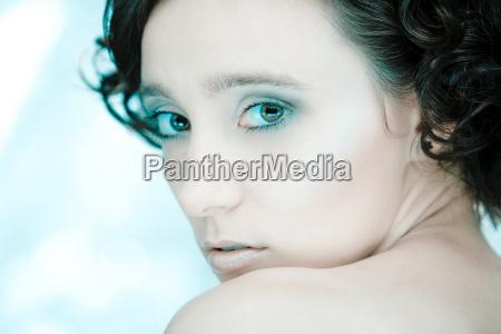 sensual shy portrait